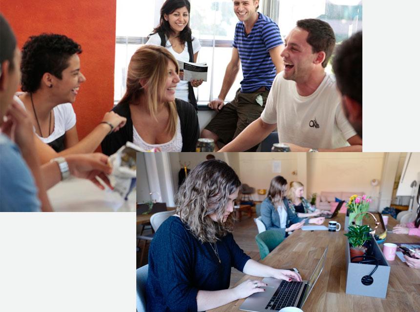 des cours d'anglais dans une école de langue