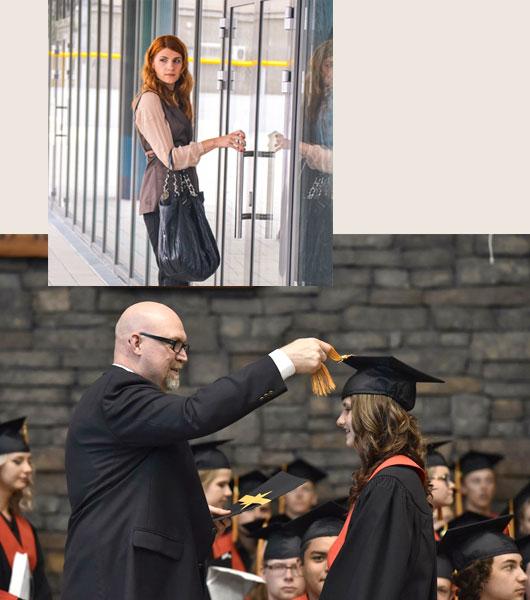 étudiant suivant un cursus d'études universitaires à l'étranger