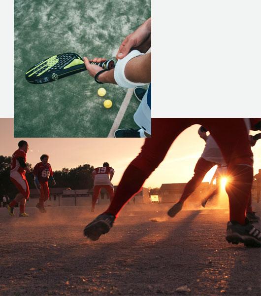Programme Athletic pour les joueurs de football, basket-ball, tennis et golf
