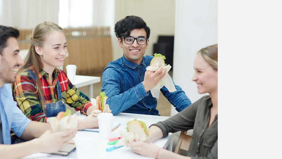 repas de midi en highschool